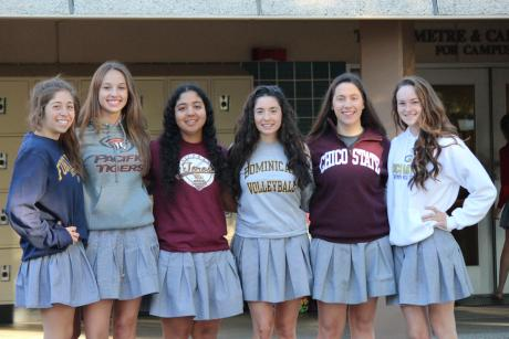 The Troubadour commitments include Allison Autrey (Diving, UC Davis), Brinnley Barthels (Water Polo, Pacific), Ryanne Brust (Lacrosse, Fort Lewis),  Alexa LoGiudice (Volleyball, Dominican), Ileana MacDonald (Golf, Chico State) and Alexis Viramontes (Softball, CSU Dominguez Hills).