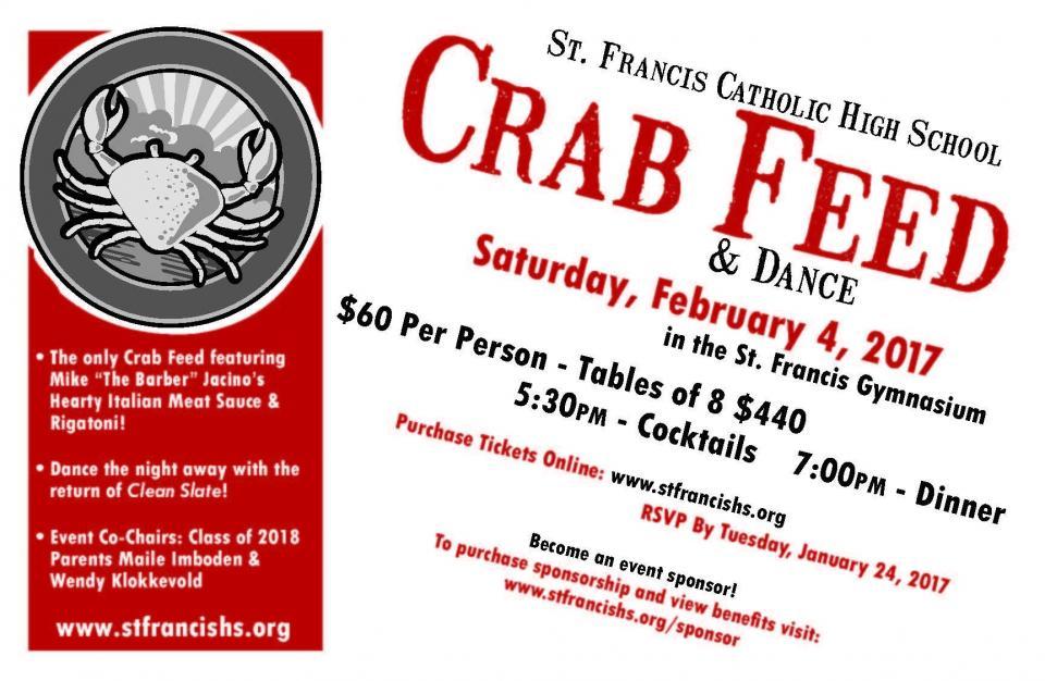 Crab Feed 2016 invite