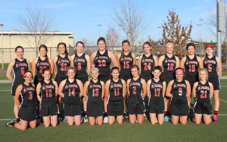 2015 St. Francis Varsity Lacrosse : Back Row (L to R): Erika Palmer, Zoe Pearlman, Maddie Merwin, Hannah Bailey, Colleen McClain, Mia Bonini, Madison McKim, Maggie Anderson, Sarah Brust, Juliette Vielhauer. Front Row (L to R): Marin Anderson, Kelly Chavez, Megan Hoffeditz, Ryleigh Bone, Emily Bush, Grace Kuchera, Meg Anderson, Grace Passantino, Hayley Kusserow.