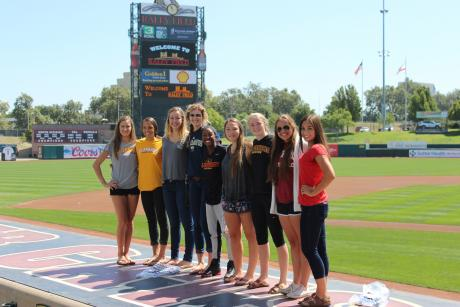 Eleven St. Francis Troubadours were among the honorees at the 2014-15 River Cats All-City team (From L to R): Ariane Arndt, Nicole Spring, Kyle Green, Anna Donald, Danika Bailey, Lauren Charter, Anna Gregg, Jennalyn Barthels and Chloe Mitchell (Not pictured Lauren Craig and Peyton Bilo).