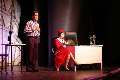 Photo from 2011-2012 Musical Thoroughly Modern Millie with Caroline Mixon.