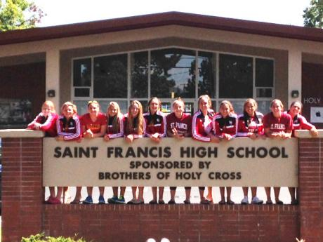 St. Francis Troubies in front of St. Francis High School campus in Mountain View #TroubieTakeover