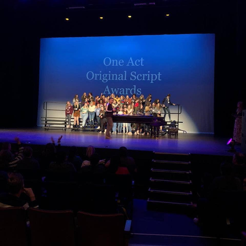 SFHS One Acts 'girl' take Gold! - St  Francis Catholic High