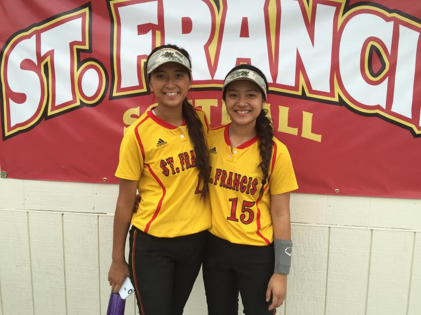Mel ('16) and Mary ('18) play on the varsity softball team. #NationalSiblingDay #TroubieTakeover