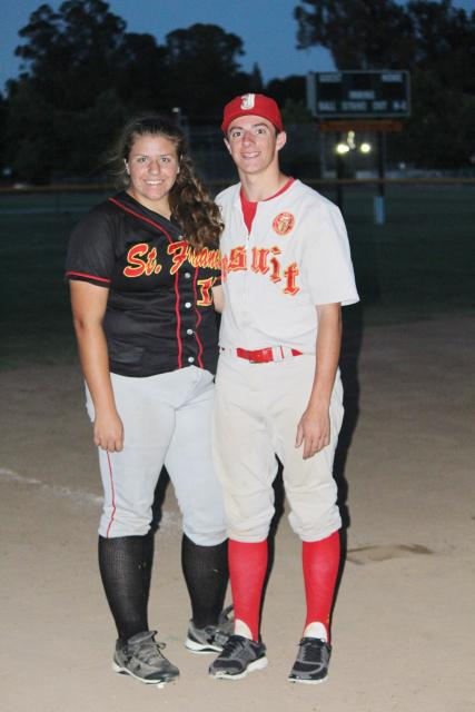 Softball player Ellie Chiappe and her brother John Louis, who is a baseball player at Jesuit.
