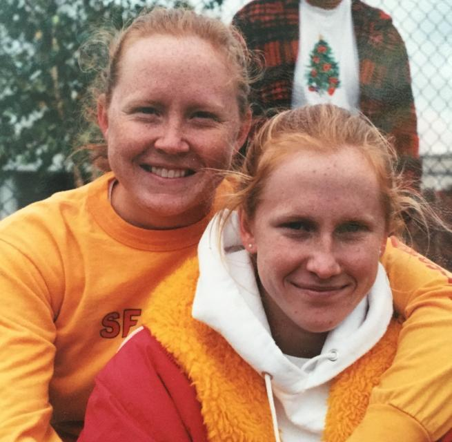 Alumnae Ilsa ('01) and Ingrid ('04) Kantola who got to play Varsity Water Polo together for one game in 2000.