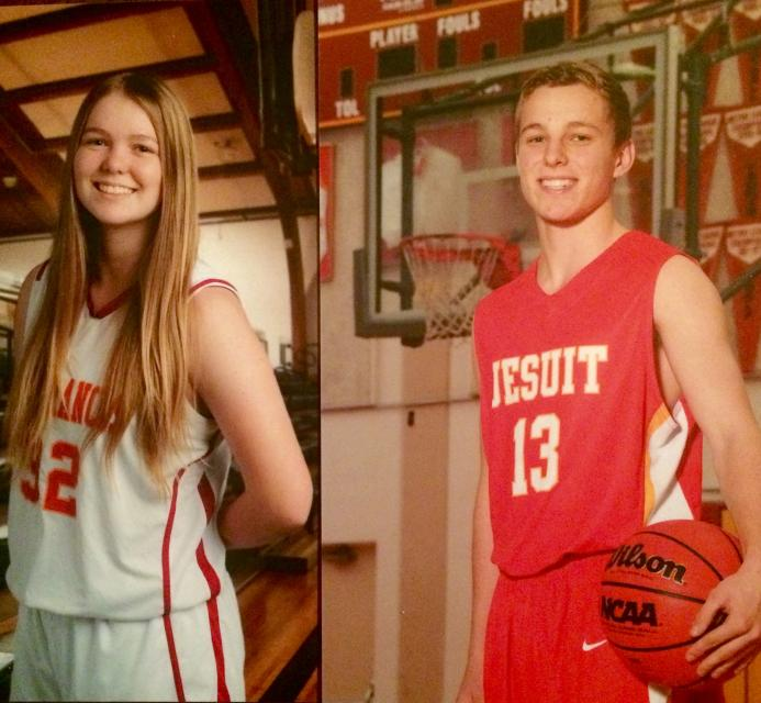 Logan and Cole Kelly both play basketball. Logan was a standout for the JV this year as a freshman #NationalSiblingDay