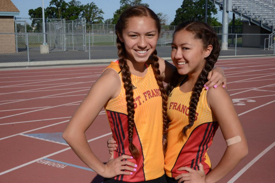 Junior Kiani, who was part of the third-place 4x400-meter relay last year at the state meet, and freshman Alana Reyna both compete for the track and field team.