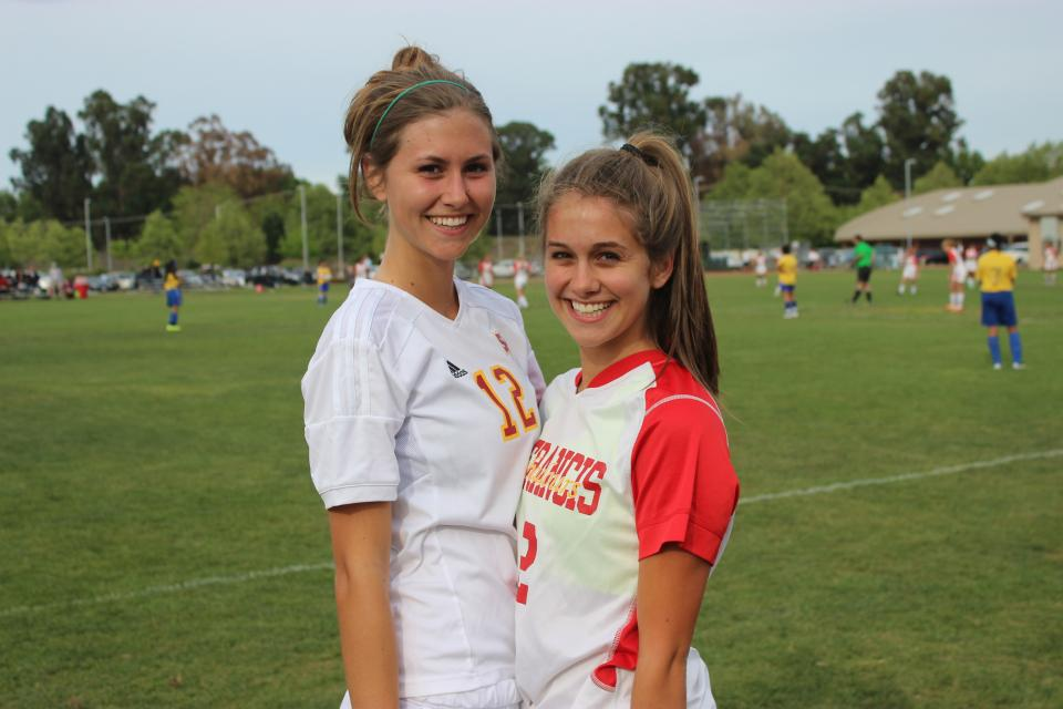 Pilar and Maya Sbisa play soccer for St. Francis, following in the footsteps of their sister Lia.