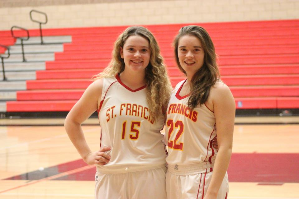 The Soloaga sisters were standouts on the basketball court this season – Isabel for the varsity and Camille for the freshman team.
