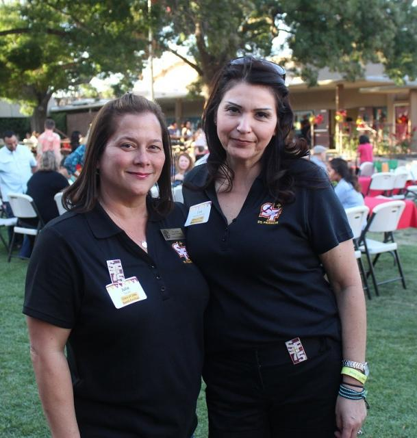 Julie Sazaki '86 and Tina Bonilla Semon '86