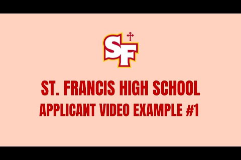 Applicant Introduction Video Example #1