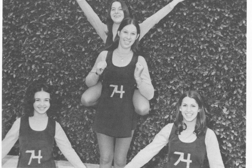 1974 Junior Class Cheerleaders (1972-73 yearbook)