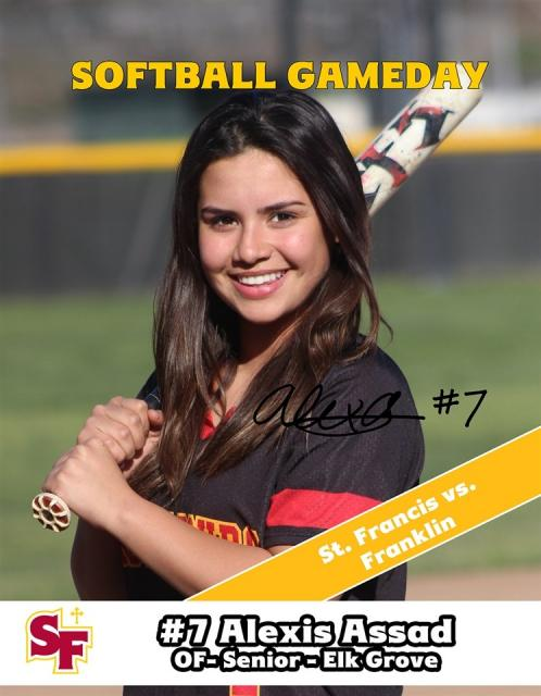 54513b95a2ad Q A with Softball Senior Alexa Assad - Alexis Assad is in her second year  in the softball program. She transferred to St. Francis for her sophomore  season ...